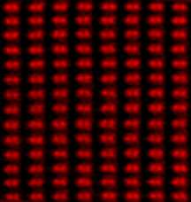 Subangstrom- resolution image shows dumbbell-shaped rows of atoms with a spacing of 0.78 angstrom between each pair